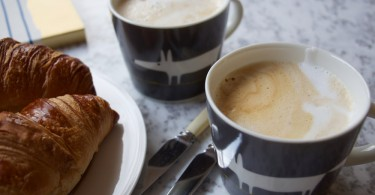 Breakfast coffee, home brewed