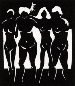 Lino-cut by Avril Broadley ©GrownGals - my midlife journey