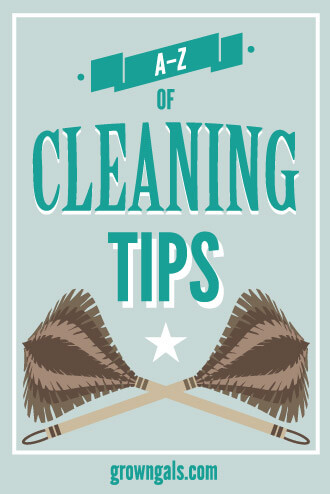 A-Z of Cleaning tips