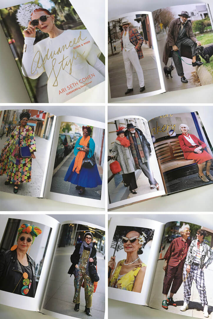 Pages from Ari Seth Cohen's book: Advanced Style, Older and Wiser
