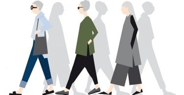 Illustration of women demonstrating ageless style