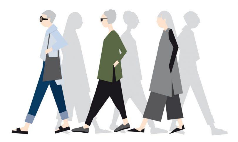 Illustration of women demonstrating ageless style