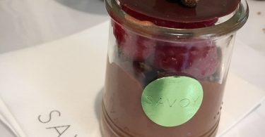 Dairy Free chocolate mousse, recipe by The Savoy
