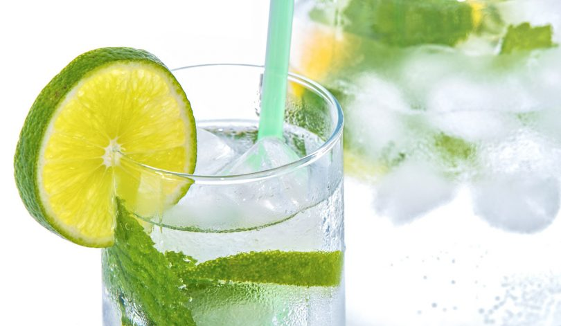Lime and mint soda instead of alcohol