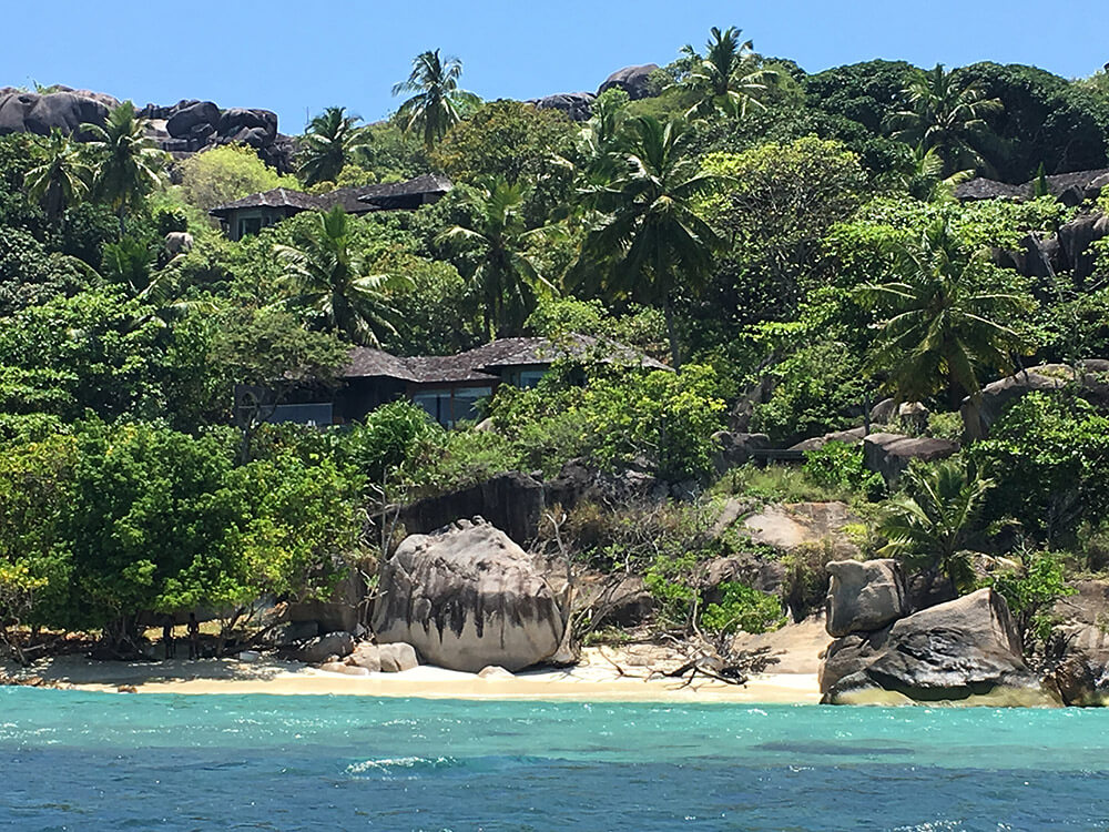 The seychelles coastline is like a Bond movie