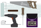 Illustration of Home Improvement Tools