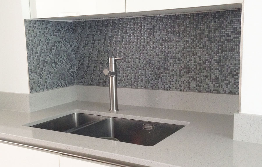 kitchen splashback tiles mosaic mosaic splashback an easy weekend tiling project growngals 6118