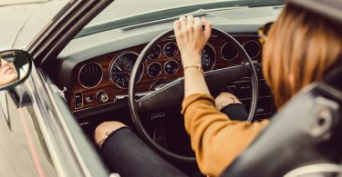 Single woman driving her own destiny