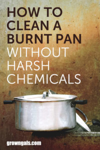 How to clean a burnt pan pin